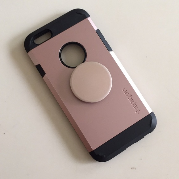 best sneakers 935c2 34bd9 Spigen iPhone case with pop socket included.